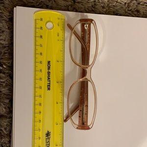 Calvin Klein optical pink sparkly eyewear